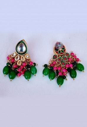 Meenakari Beaded Earrings