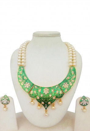 Meenakari Enamelled Gold Plated Necklace Set