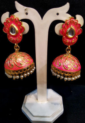 Meenakari Jhumka Style Earrings