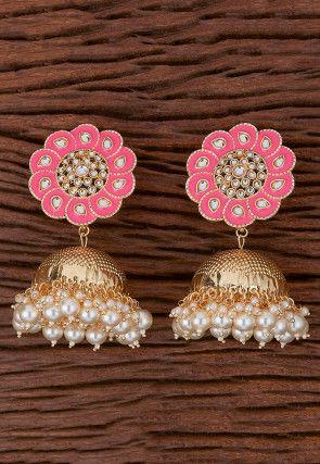 Meenakari Jhumka Style Earrings