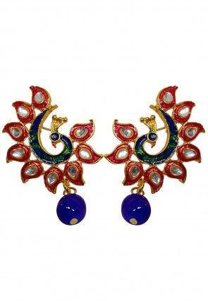 Meenakari Peacock Style Earrings