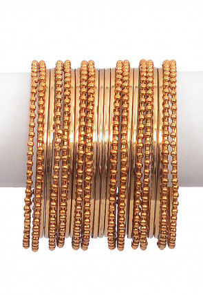 Metallic Bangle Set