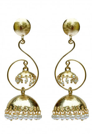 Metallic Jhumka Style Earrings