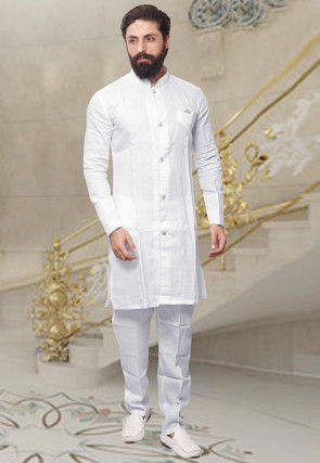 5879f4fa39 Linen - Men s Ethnic Wear  Buy Indian Traditional Mens Dresses Online