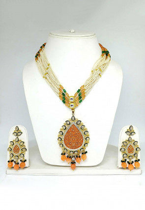 Mint Meena Beaded Necklace Set