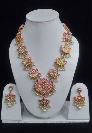 Mint Meena Necklace Set
