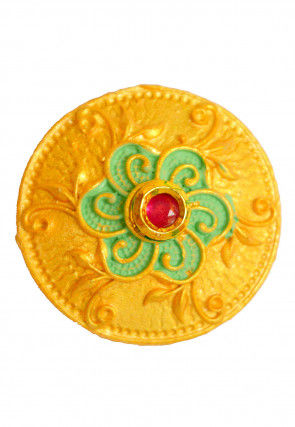 Mint Meena Stone Studded Adjustable Ring