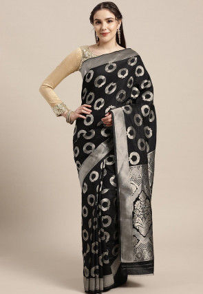 Mysore Art Silk Saree in Black