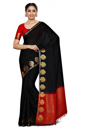 Mysore Crepe Saree in Black