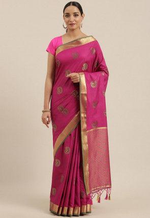 Mysore Silk Saree in Fuchsia