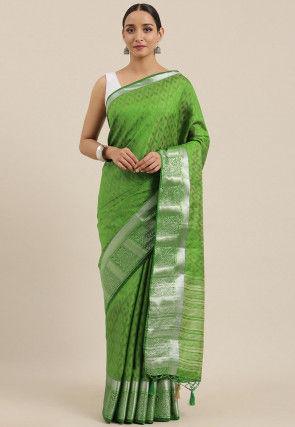 Mysore Silk Saree in Green
