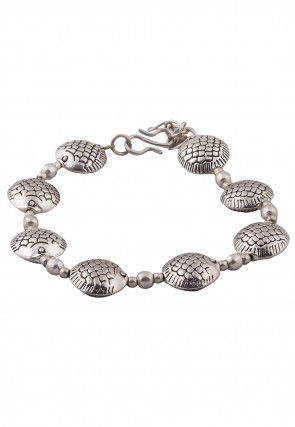 Oxidised Beaded Adjustable Bracelet