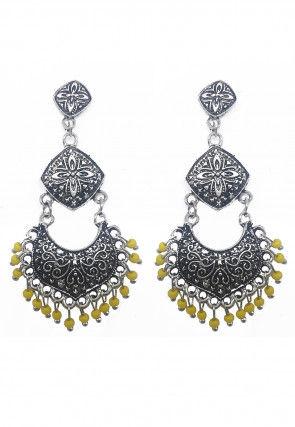 Oxidised Beaded Earrings