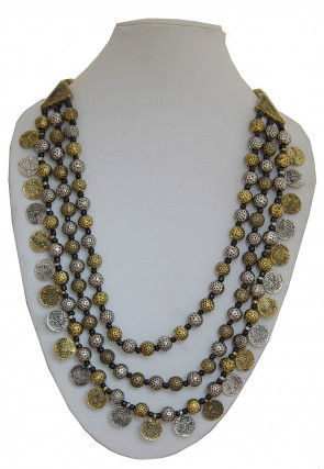 Oxidised Beaded Layered Necklace