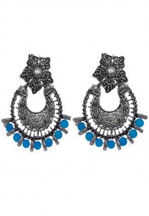 Oxidised Chandbali Earrings