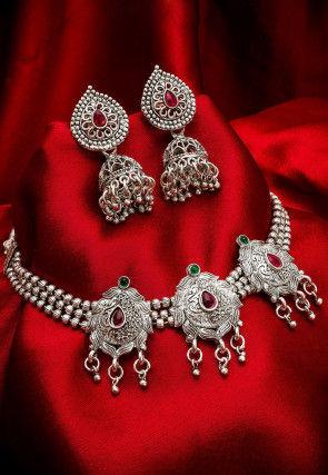 Oxidised Choker Necklace Set