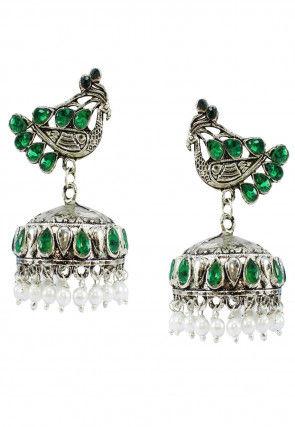 Oxidised Jhumka Style Earrings