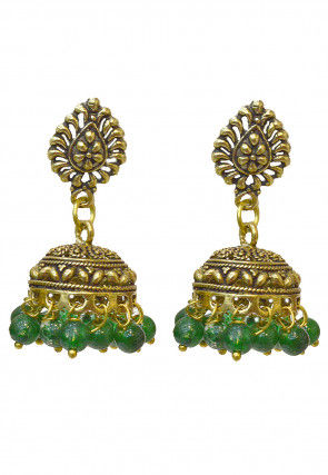 Oxidised Jhumka Style Earrings