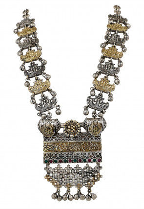 Oxidised Stone Studded Necklace