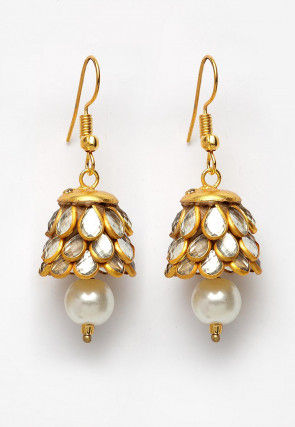 Pacchikari Jhumka Style Earrings