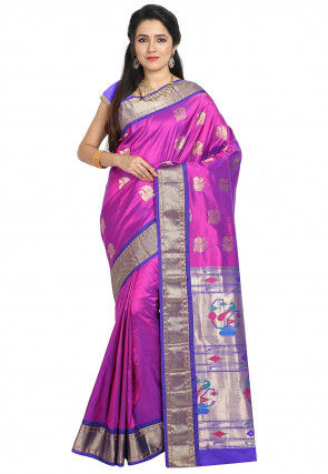 Paithani Pure Silk Saree in Magenta