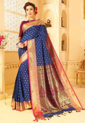 Paithani Saree in Navy Blue