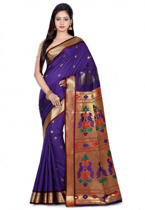 Paithani Saree in Violet