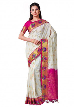 Paithani Saree in White