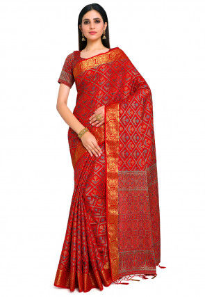 Patola Saree in Red