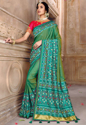 Patola Silk Saree in Green