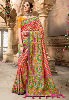 Patola Silk Saree in Multicolor