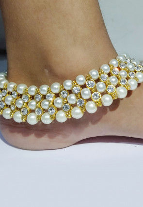 Pearl Adjustable Pair of Anklets