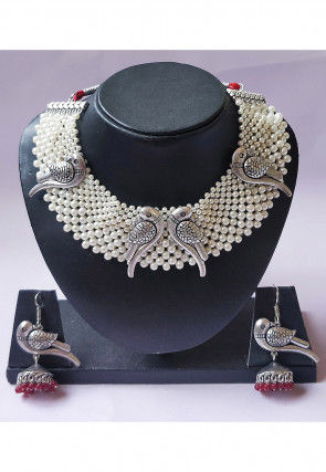Pearl Choker Necklace Set