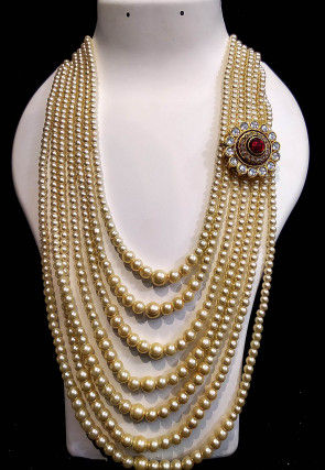 Pearl Long Layered Necklace
