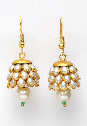 Pearl Pacchikkari Jhumka Style Earrings