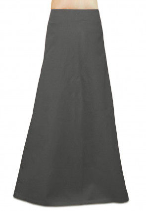 Plain Cotton Petticoat in Grey