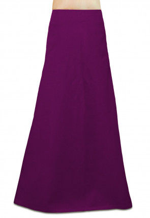 Plain Cotton Petticoat in Magenta