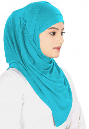 Plain Georgette Hijab in Turquoise