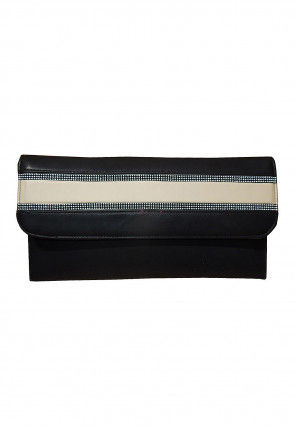 Plain Leather Envelope Wallet in Black