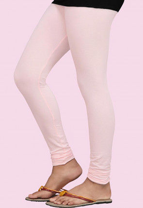 Plain Lycra Leggings in Baby Pink