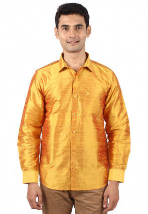 98049cd86c8fc4 Dupion Silk - Shirts - Men s Ethnic Wear  Buy Indian Traditional Mens  Dresses Online