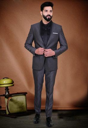 Plain Terry Rayon Tuxedo in Grey