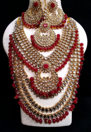 Polki Layered Necklace Set