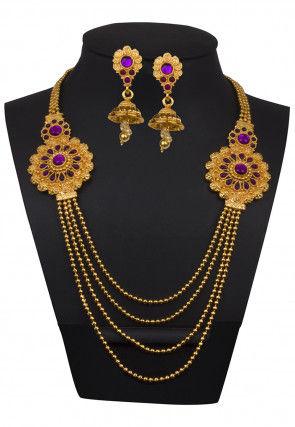 Polki Studded Layered Necklace Set