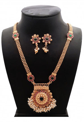 Polki Studded Necklace Set