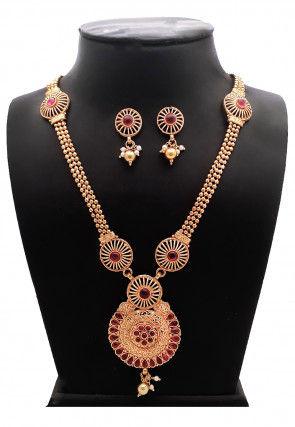 Polki Studded Necklace Set