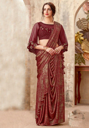 f35e35cc673419 Pre Stitched Sarees: Shop Pre Stitched Sari Online at Utsav Fashion