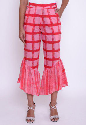 Printed Cotton Capri in Pink
