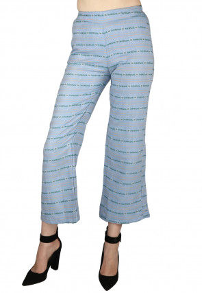 Printed Cotton Culottes in Sky Blue