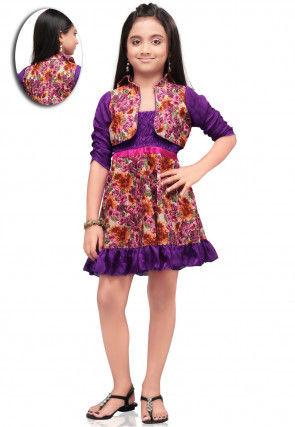Printed Cotton Dress in Multicolor